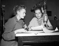 OLD CBS RADIO TV PHOTO June Lockhart on the radio program Broadway and Vine 1