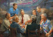 Jigsaw puzzle Political Democrat Presidents playing poker 500 piece NEW