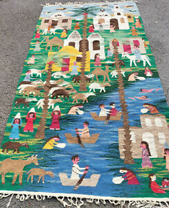 HAND MADE MOROCCAN PICTORIAL KILIM 2.18mtr x 1.20mtr