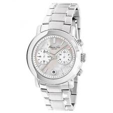 BRAND NEW KENNETH COLE KC4801 SPORTS WOMENS CHRONOGRAPH MOTHER OF PEARL WATCH