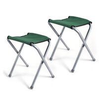 2 PCs Portable Chair Folding Camping Stool Outdoor Stool Fishing BBQ Beach Seat