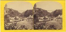 Suisse Fribourg Pont Photo William England Stereo Vintage albumine ca 1865