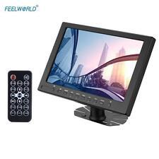 "FEELWORLD 10""inch HD LCD Video Camera Monitor IPS HD-MI VGA With Remote Control"