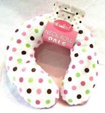 Cudlie Neck Roll Pals Pillow for Babies Neck, Reversible Pink & Polka Dots, New