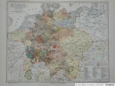 Landkarte Deutschland westfälisch Friede 1648, 1906, M6