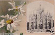 # MILANO: MARGHERITONE E DUOMO- CART. A COLORI PRIMO '900