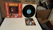 ELVIS PRESLEY BURNING LOVE AND HITS FROM HIS MOVIES LP IN SHRINK W/ BONUS PHOTO!