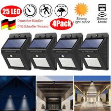 2Stk 88LEDs Solar Licht mit Bewegungsmelder 4 Modus Garten Straße Wandleuchte
