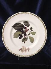 """ROSINA QUEEN'S ENGLAND HOOKER'S FRUIT BLACK CHERRY DINNER PLATE 10 5/8"""""""