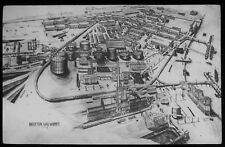 Glass Magic Lantern Slide BECKTON GAS WORKS NO1 DATED 1932 DRAWING LONDON