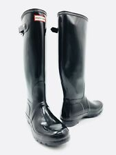 Hunter Original Tall Gloss Black Rain Boots Women's Size 8