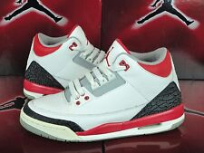 2007 RARE Air Jordan 3 Fire Red White Black Sz 5.5Y GS 834014-161