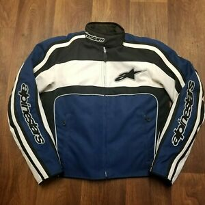 Alpinestars Stella Womens Motorcycle Jacket With Armor Size Large Blue White