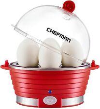 Electric Egg Cooker Boiler, Rapid Egg-Maker & Poacher, Food & Vegetable Steamer,