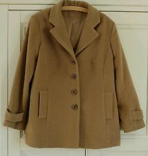 Unbranded Women's Wool Blend Button Outdoor Coats & Jackets