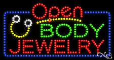 """New """"Open Body Jewelry"""" 32x17 Solid/Animated Led Sign W/Custom Options 25467"""