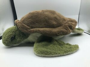 K&M International Inc 2003 Green Turtle Plush Kids Soft Stuffed Toy Animal Shell