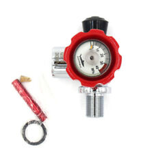 Pcp Paintball Din Valve Tank On/Off Valves w/ Gauge On The Side M18 Male G5/8