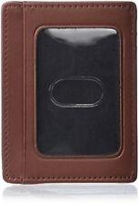 Dopp Men's Regatta Front Pocket Get-away Minamalst Slim Wallet, Cognac, One Size