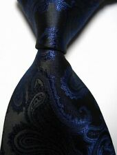 MENS NEW 100% CLASSIC PAISLEY JACQUARD WOVEN SILKY TIE NECKTIE - ALL COLOUR