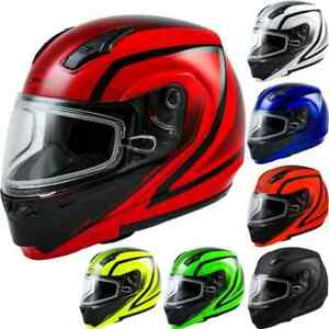 GMax MD04S Docket Mens Sled Riding DOT Cold Weather Modular Snowmobile Helmets