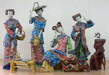 Shiwan Porcelain Lady Figurine Master Chinese Four Beauty Sister 4/set
