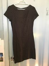 Topshop brown and back dress in size 8
