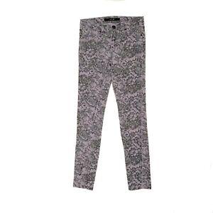 "Joe's Jeans Lavender Floral Stretch Skinny Denim Jeans Girls Size 14 Inseam 27"""