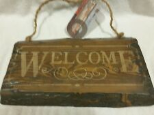 "Homemade ""Welcome"" Wooded Sign"