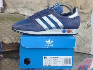 2016 Adidas LA Trainer UK6.5 / US7 Blue Silver OG CW Originals