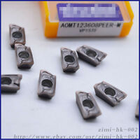 10pc AOMT123608PEER-M VP15TF Carbide Blades Inserts Milling Turning CNC Tool