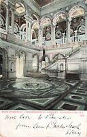Postcard Main Stairway Congressional Library Washington DC