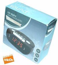 LED DIGITAL ALARM CLOCK RADIO BLACK