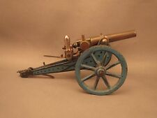 Marklin field cannon, 8042/1, export blue,  brass barrel, full breech mechanism