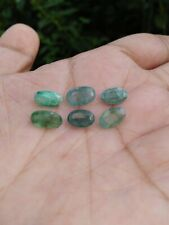7.29 Carats 6Pcs Lot Natural Green EMERALD Loose Stones for Jewelry Setting Oval