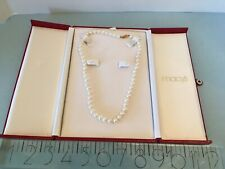 Macy's Pearl Set Necklace And Earrings In Red Box Originally $260.00 Bridge