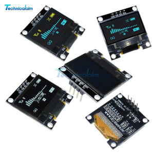 "1/2/5PCS 0.96"" I2C IIC Serial 128X64 OLED LCD Display Module SSD1306 for Arduino"