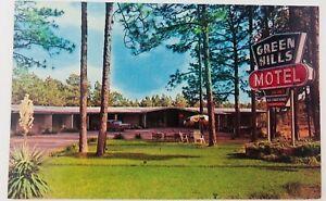 Vintage Hattiesburg Mississippi MS Green Hills Motel Postcard 1962