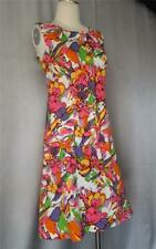 BOHO HAWAIIAN PSYCHEDELIC COTTON PRINT vintage 1960s Mini Sun DRESS