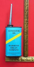 Vintage 1943-63 Hammond Organ Generator Old Tin Oil Can B3