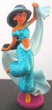 JASMINE GLITTER DRESS Disney Store Princess ALADDIN PVC TOY FIGURINE Doll Figure