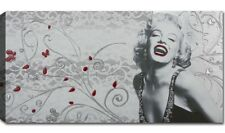 Quadri Moderni Stampa Tela Cm 100x50 XXL Quadro Moderno Capezzale Marilyn Monroe