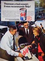 PUBLICITÉ 1968 THOMSON VOUS RECOMMANDE LA LESSIVE SKIP - ADVERTISING