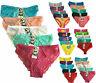 5 Pcs Women Ladies Floral Lace Bikini Panty Panties Bikini Cotton Underwear M-XL