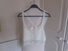 BNWT 2019 RIVER ISLAND CREAM CROCHET LACE TRIM KNITTED BRALET SIZE 12 RRP £35