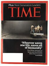 Time Magazine 10/17/2016 White Helmets of Syria volunteer rescue workers