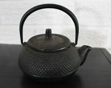 Japanese Cast Iron Tetsubin Teapot Signed