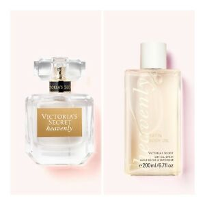 Victoria's Secret HEAVENLY Eau de Parfum(1 fl.oz Satin Dry Body Oil Spray Set