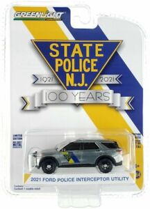 Greenlight 1/64 CHASE RAW New Jersey State Police 2021 Ford PI SUV 28060F