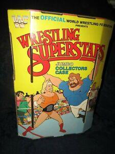 "LJN WWF/wwe Wrestlng Superstars Jumbo carry case figures.moc,""ULTRA/GEM""New Item"